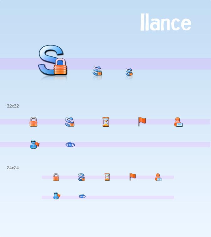 Custom website icons for Ilance - Custom Icon Design team