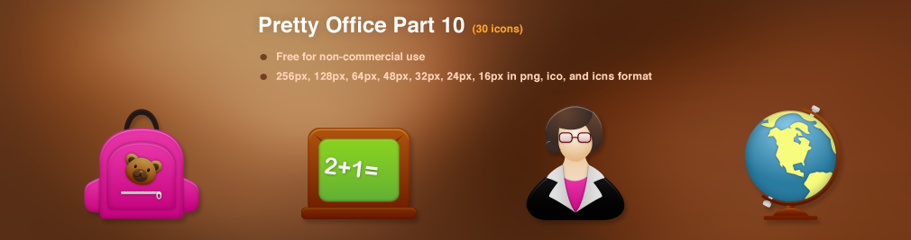 Pretty Office Icon Set Part 10